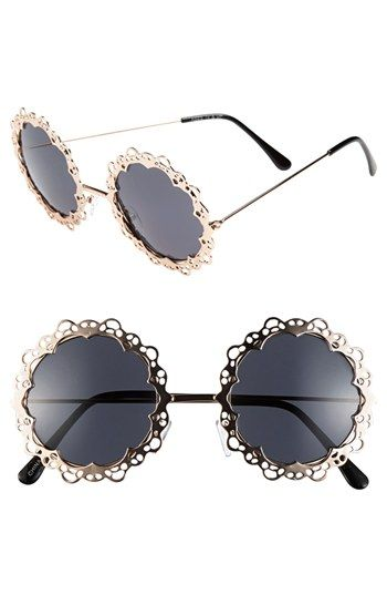 $22, Fantas Eyes Fe Ny Round Sunglasses Gold One Size