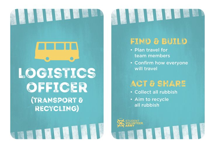 Project Team Role - Logistics Officer