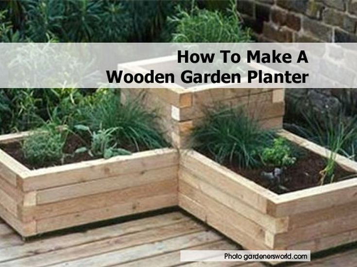 Turn a wooden planter into something special by adding a fresh coat of  paint and some - 25+ Best Ideas About Wooden Garden Planters On Pinterest Diy