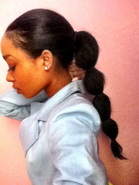 GOAL ponytail.