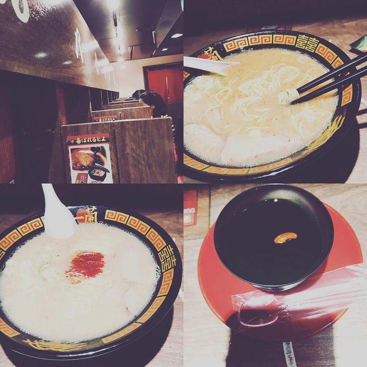 拍了一個小時的一蘭拉麵 #Japan #japanese #food