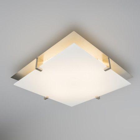 Plaf n atomy 15w led cuadrado blanco l mpara de techo for Plafon led techo