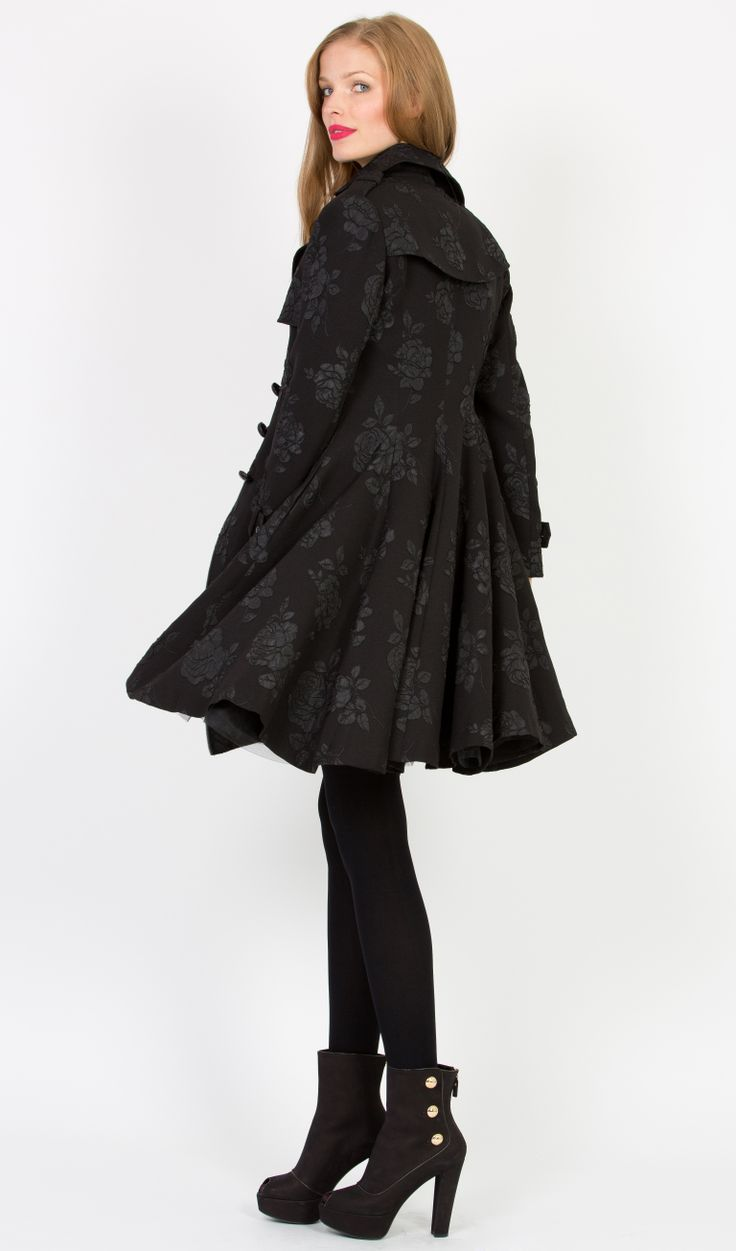 Trelise Cooper Flare-tatious  Coat Floral Delight In store now at Trelise Cooper Wellington