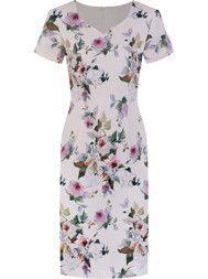 Wiosenna sukienka Tycjana VII, wizytowa kreacja w kwiaty.