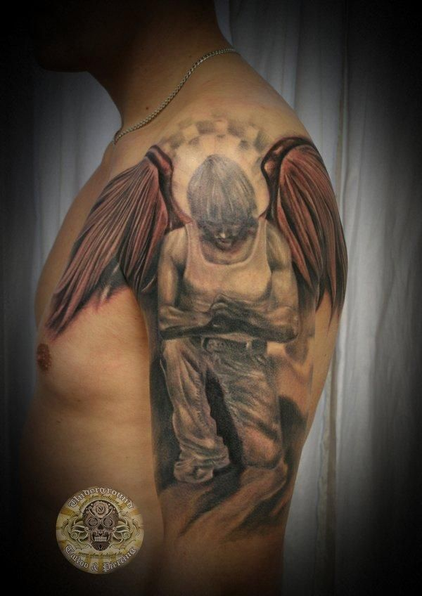 Fallen angel tattoo final - 60 Holy Angel Tattoo Designs