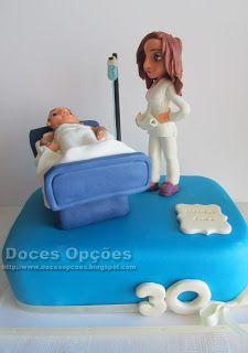 Doces Opções: Bolo do aniversário da enfermeira Carla