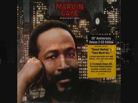 "MARVIN GAYE. ""Rockin' After Midnight"". 1982 album version ""Midnight Love""."