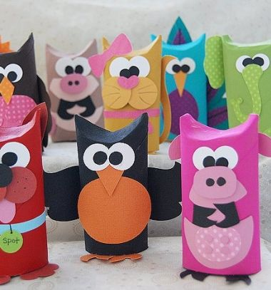 Vidám színes állatok wc papír gurigákból / Mindy -  kreatív ötletek és dekorációk minden napra