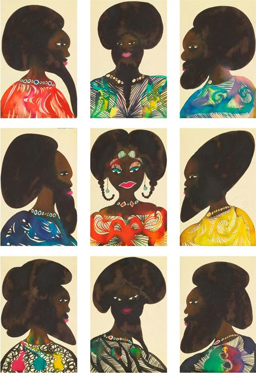 Afro-muses by Chris Ofili