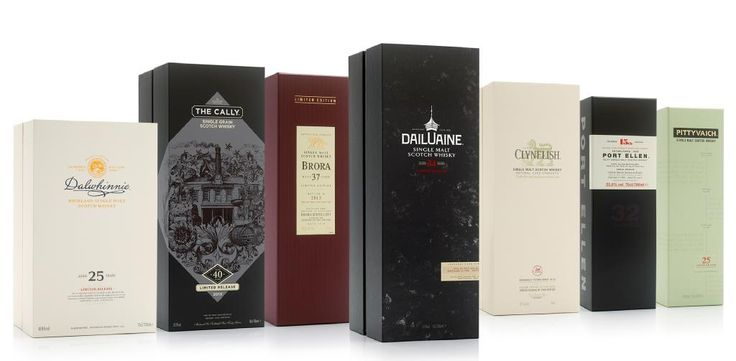 Most recently, MW worked alongside Diageo to produce luxury packaging for seven of their nine 2015 Special Release Single Malt Whiskies. This family of limited edition packs was created using luxury materials and specialised techniques to ensure not only the safety of the bottle, but the refined appearance of the box.