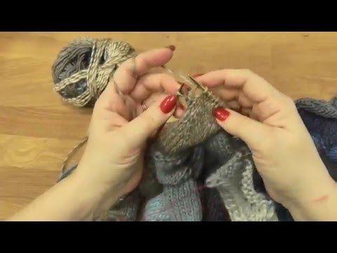 Škola pletení, Entrelac - vychytávka, Knitting Entrelac - YouTube