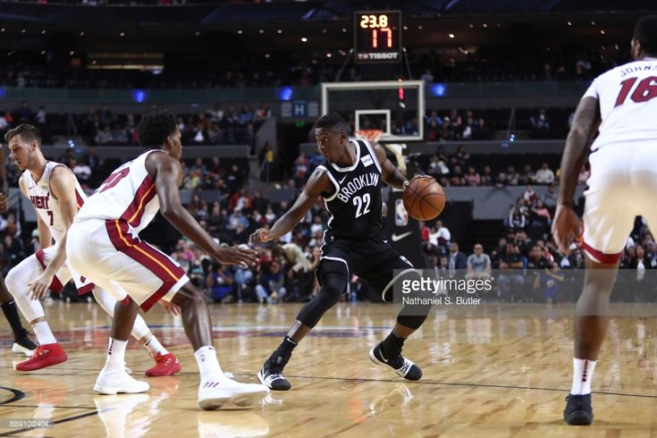 Caris LeVert #22 of the Brooklyn Nets handles the ball against the Miami Heat as part of the NBA Mexico Games 2017 on December 9, 2017 at the Arena Ciudad de México in Mexico City, Mexico.