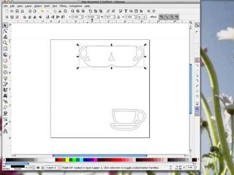 Inkscape Brother Scan N Cut Teacup Shaped Card Youtube