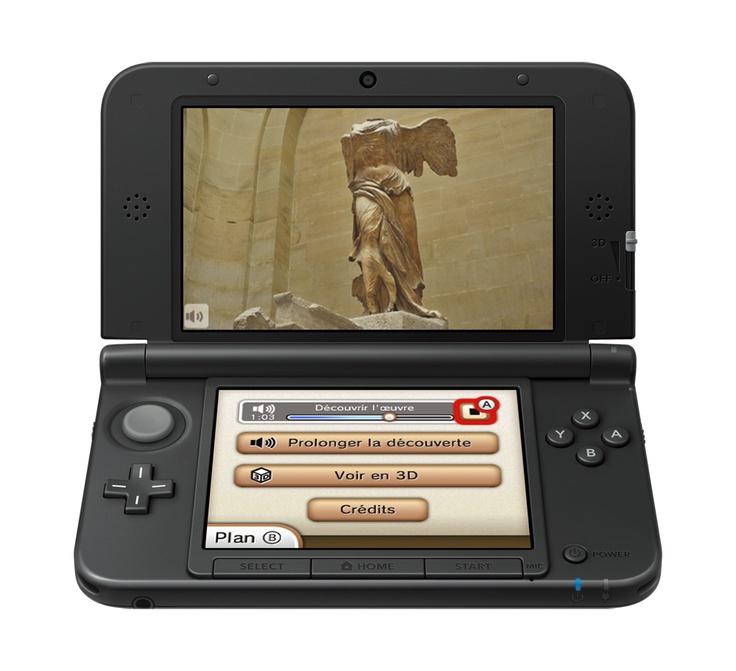 Nintendo 3DS XL au musée du Louvre depuis le 21 novembre 2012