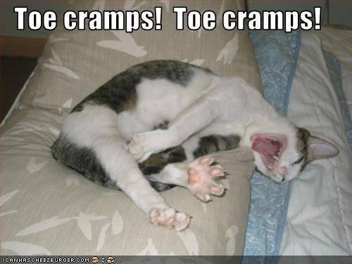 Toe cramps!