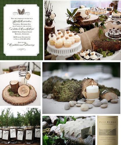 Woodland Engagement Party -  if we have a woodland/forest wedding could be nice to tie the engagement party and the wedding together....