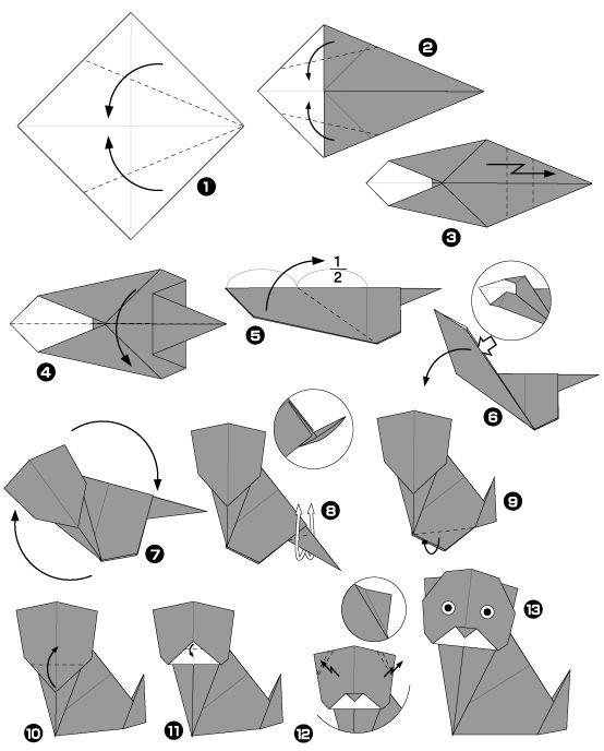 Origami de chat noir