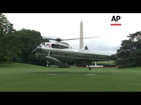 Trump Family Flies to Camp David