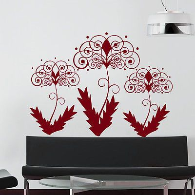 Wall Decals Dandelion Flower Fly Decal Living Room Home Decor Vinyl Art MR308
