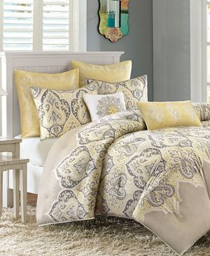 Madison Home USA Nisha Cotton Sateen 7-Pc. King/California King Comforter Set Bedding