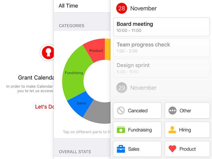 Calendar Audit Screens by Adam Hayek