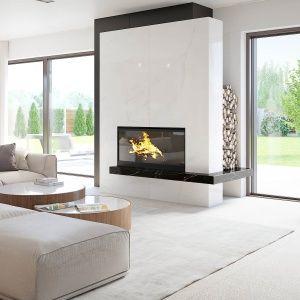Wnętrza w stylu nowoczesnym charakteryzują się najczęściej prostą formą, dużą ilością białego koloru i minimalizmem. Taki jest właśnie prezentowany przez nas dom. Dużo w nim bieli, szkła i ciekawych rozwiązań.