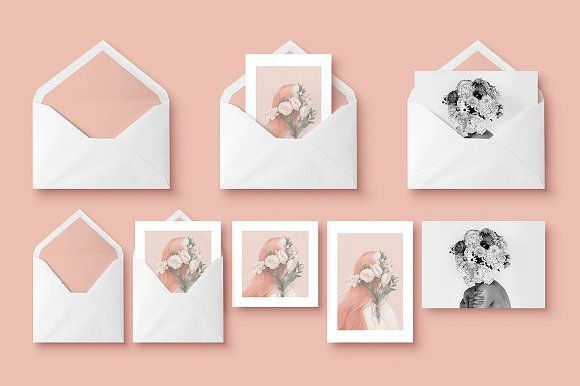 Mockup - Greeting Cards & Envelope by blackpattern on @creativemarket
