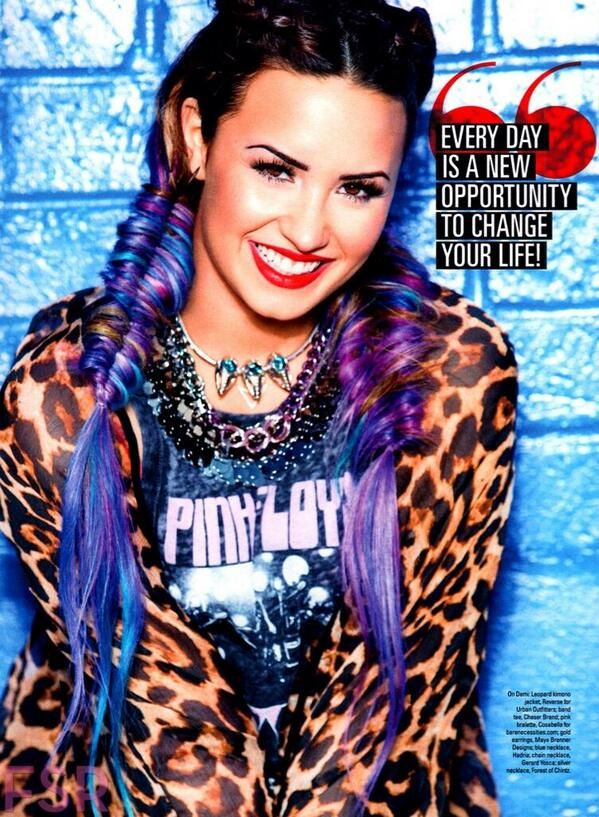 Demi Lovato Pink Purple & Blue Hair Stunning In Seventeen Magazine August 2014 Issue - http://oceanup.com/2014/06/21/demi-lovato-pink-purple-blue-hair-stunning-in-seventeen-magazine-august-2014-issue/