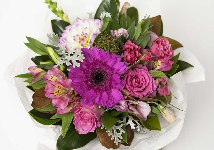 Pink Brown Flower Box - Expressions Florist Cambridge NZ