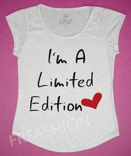 Camiseta T-shirt Feminina Fr Fashion - Limited Edition - R$ 49,90
