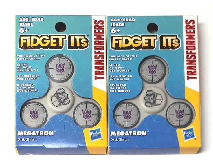 Lot of 2 Hasbro Fidget Its Transformers Megatron Finger Spinners Toy New | eBay