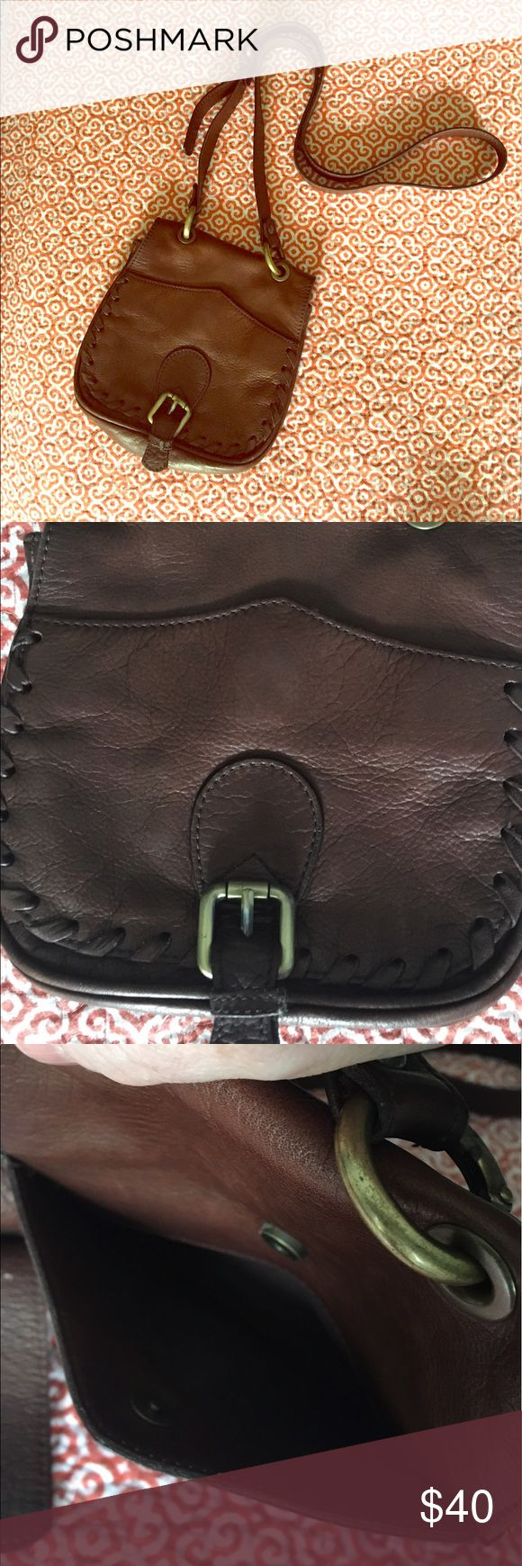 "Massimo Dutti Leather Cross-body Purse Nice buttery soft brown leather bag. Measures approximately 7""x7.5""x2"" with a strap drop of 23.5"" Massimo Dutti Bags Crossbody Bags"