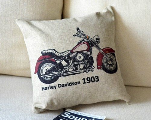 Harley Davidson Pillow Case by CharmingCollectibles on Etsy, $28.00