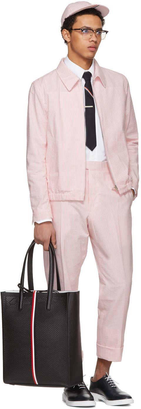 Thom Browne - Pink Double Welt Pocket Golf Jacket