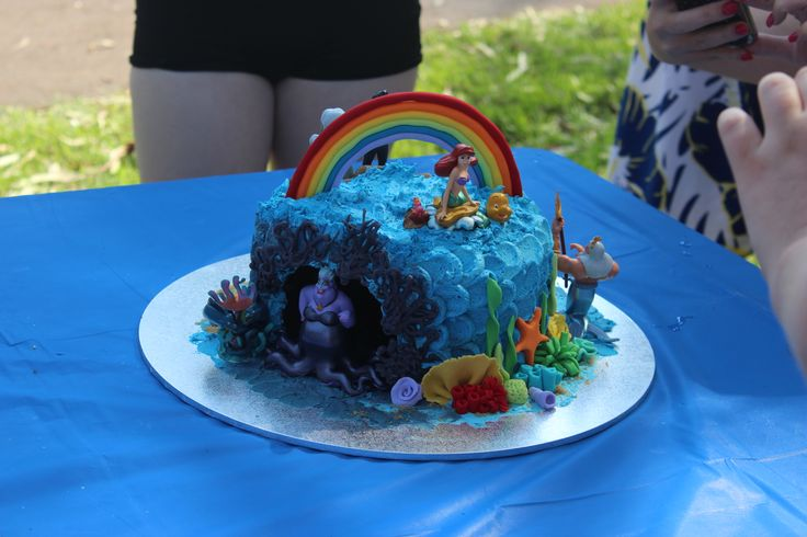 The Little Mermaid cake - with all characters