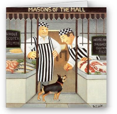 Beryl Cook - Masons of the Mall