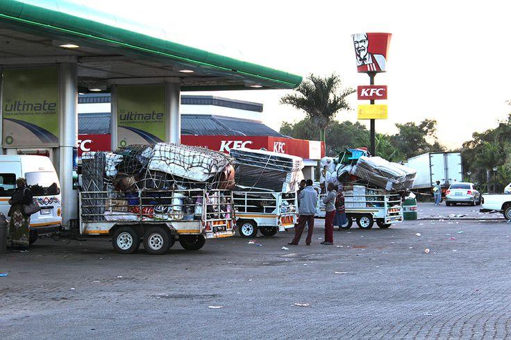 Petrol station near the border