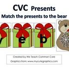 A great word building activity with presents and bears where students make and read CVC words. Great for a holiday, December, or Christmas themed u...