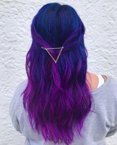 Idées de couleurs de cheveux bleus et violets #blue #purple #huile #colours – …