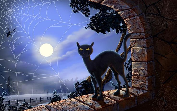 halloween cat Bing Images Halloween Artwork Pinterest