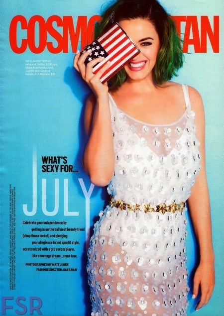 Katy Perry On The Cover Of Cosmopolitan Magazine