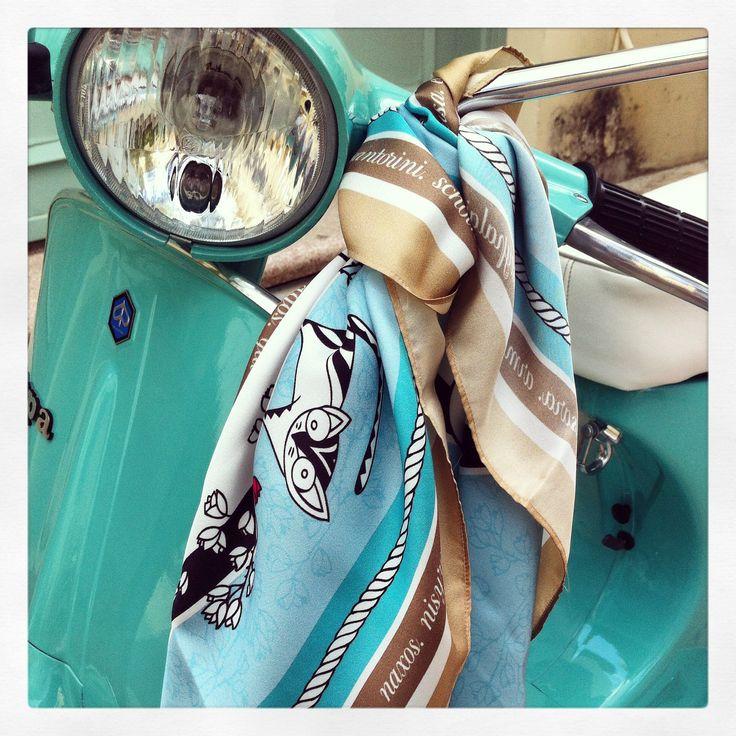 """""""Grecian Summer"""" silk scarf by Grecian chic!"""