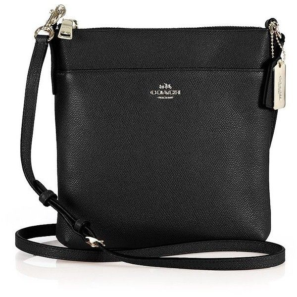 COACH Courier Textured Leather Crossbody Bag ($150) ❤ liked on Polyvore featuring bags, handbags, shoulder bags, apparel & accessories, travel shoulder bag, coach shoulder bag, cross body travel purse, coach handbags and travel handbags