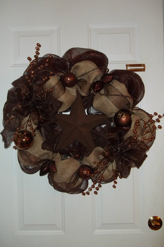 Burlap Wreath Holiday.