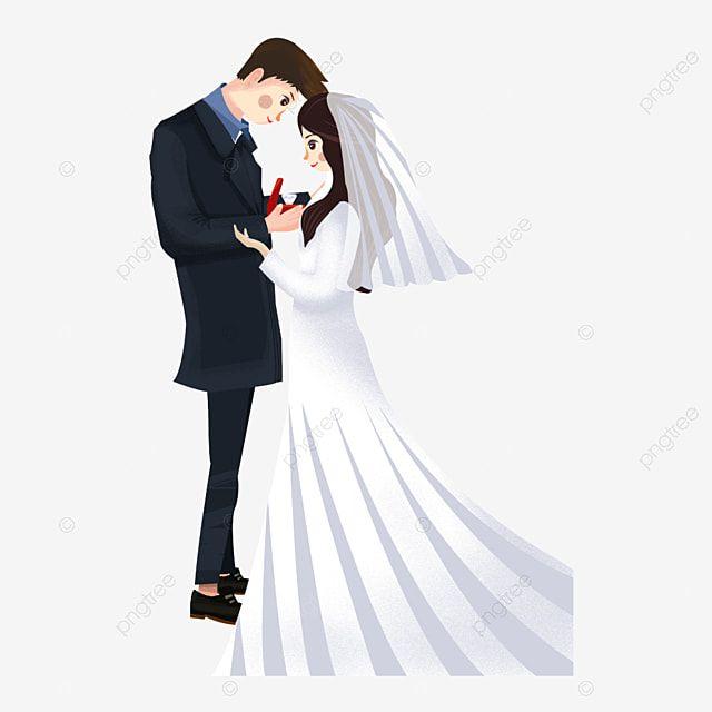 عنصر الزواج العروس العريس الرومانسية العروس عنصر الزواج عروس Png وملف Psd للتحميل مجانا Bride Bride Groom Groom