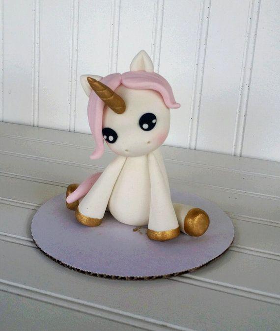 Kleine Unicorn-Fondant-Kuchen-Deckel