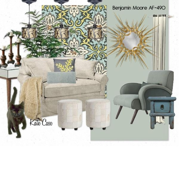 Tranquility, a design board created at ProjectDecor.com inspired by Benjamin Moore Paint Color AF-490 Tranquility