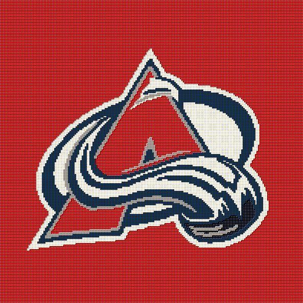 Crochet Hockey Afghan Pattern : USD5 - Colorado Avalanche Crochet Pattern - NHL Hockey ...