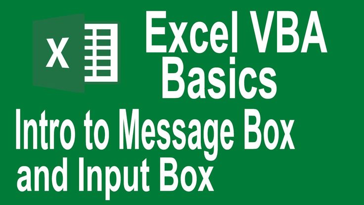 Excel VBA Basics! Msgbox and InputBox intro (Tutorial # 7 | VBA Basics f...