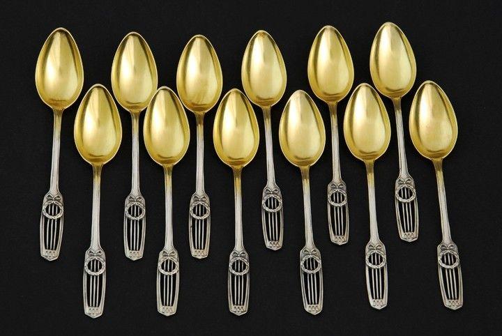 Set of neoclassical silver spoons, Heilbronn